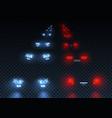 car road lights set vector image vector image
