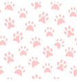 cat footprints collection - flat design style vector image