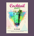 cocktail mojito on watercolor background vector image vector image