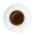 cup of coffee stock vector image vector image