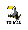 cute toucan cartoon logo icon vector image