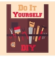 Do It Yourself tools on apron vector image