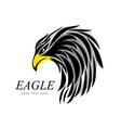 eagle head fly logo black icon tattoo vector image vector image