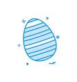 egg easter festival icon design vector image