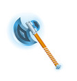 epic tomahawk isolated icon vector image