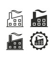 factory icon set vector image vector image