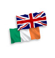 flags of great britain and ireland on a white vector image