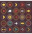 Flat arrow icons sign symbol set vector image vector image
