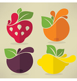 flat fruits vector image vector image