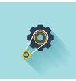 Flat repair icon Settings symbol vector image vector image