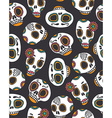 Funny seamless skull pattern for Halloween and Day vector image vector image