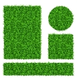 Green grass banners set vector image vector image