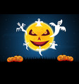 halloween moon ghost vector image