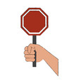 hand with roadsign vector image vector image