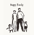 happy family together mother father sister vector image vector image