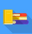 heap of book icon flat style vector image vector image