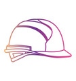 helmet side view gradient color silhouette from vector image
