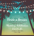 inspiration card for wedding date birthday vector image vector image