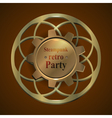 Invitation flyer on retro steampunk party vector image vector image