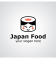 japan food logo vector image vector image