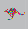 Kangaroo abstract colour vector image vector image