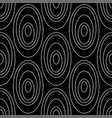 line art circles seamless pattern vector image