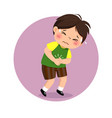 little boy suffering from stomachache vector image