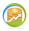 logo icon for financial investment business vector image
