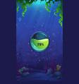 mahjong fish world - mobile format loading screen vector image vector image