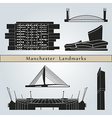 Manchester landmarks and monuments vector image vector image