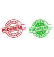 progress round badges using grunged surface vector image vector image