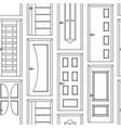 realistic room doors pattern vector image vector image