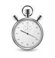 realistic silver steel classic stopwatch icon vector image