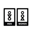 restroom sign vector image