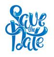 save date postcard vector image