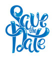 save the date postcard vector image