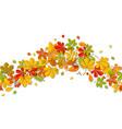 seamless border autumn falling leaf isolated on vector image