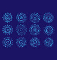 semi-transparent snowflakes on a blue background vector image vector image