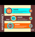 Set modern banners or template of infographics vector image vector image