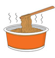 set of noodle vector image vector image