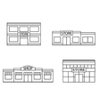 Set of store shopping mall icons vector image vector image