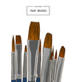set of water color brushes artist tools sketch vector image vector image