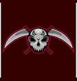 skull killers mascot logo skull reaper logo vector image