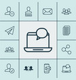 social icons set collection of publication vector image vector image