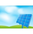 Solar panel on a blue sky vector image vector image