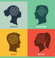 solving problems human profiles with mazes vector image