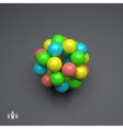 Sphere 3d Template Abstract vector image vector image