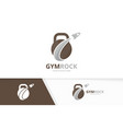 sport and rocket logo combination gym and vector image vector image