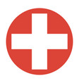symbol of medicine cross vector image vector image