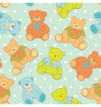teddy bear seamless pattern vector image vector image